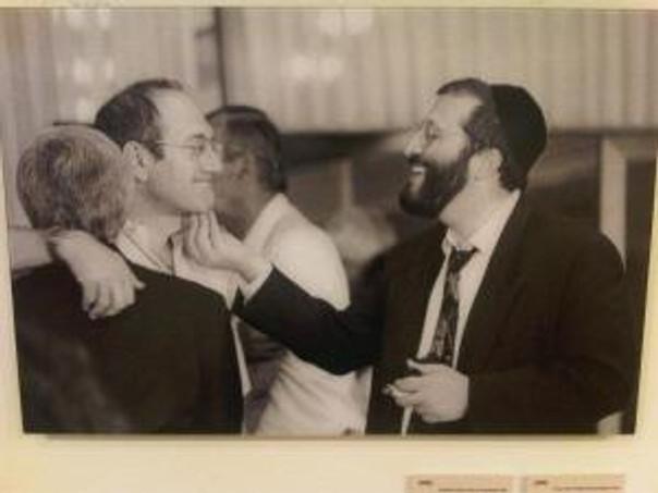 דרעי ואולמרט. מזנון הכנסת, 1995