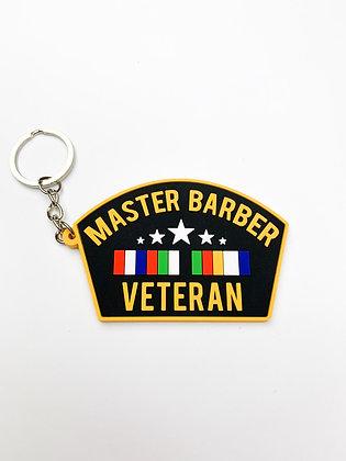 Master Barber Veteran Keychain