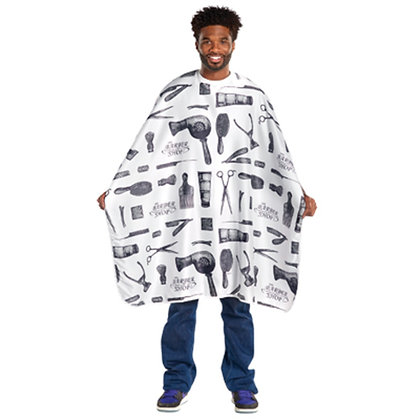 Scalpmaster Barber Print Styling Cape