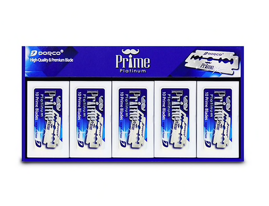 Dorco Prime Platinum Double Edge, 100 Blades