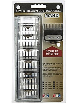 Wahl Premium Cutting Guide Combs 8 Pack