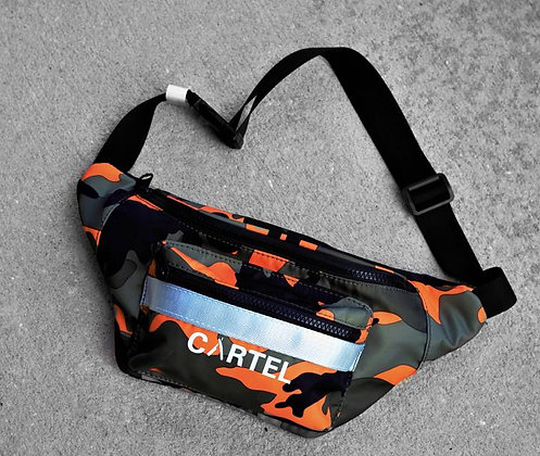 ORANGE CAMO CARTEL WAIST BAG -Barber Cartel