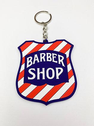 Barber Shop Sign Keychain