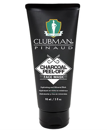 Clubman Pinaud Charcoal Peel-Off Face Mask, 3 oz BLACK MASK