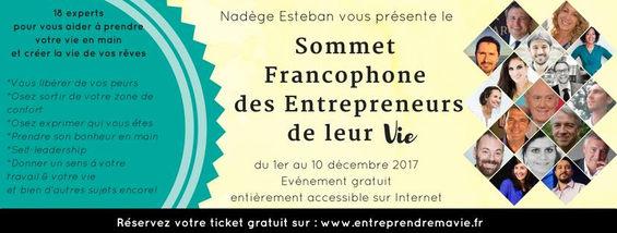 Somment Francophone des Entrepreneurs de leur VIE - Décembre 2017