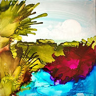 Garden Delights 2.jpg alcohol ink