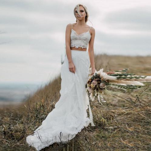 EA126 Two piece BOHO Style wedding gown