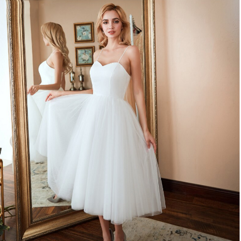 Sample Sale EA132 Size 6 Simply Sweet Heart Short Wedding Gown