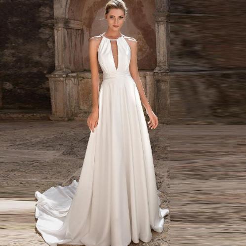 EA155 Elegent Modern Sexy Wedding Gown