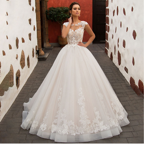 EA130 Ball Gown Princess Style Delicate Detail Back