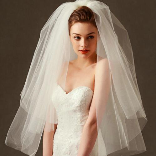 EAV03 Fluffy sweet  two-layer veil