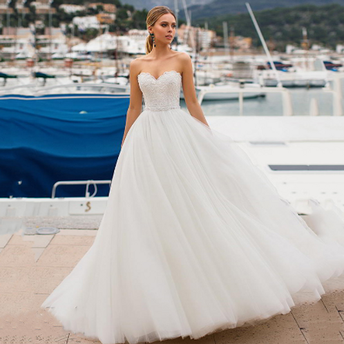 EA154 Splendid Sweetheart Strapless Ball Gown with Corset