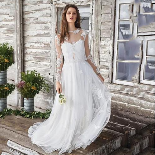 EA146 Two-way Boho Wedding Gown
