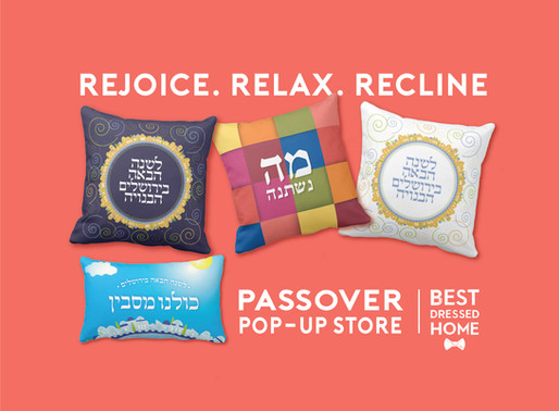 Send your Love. Pesach Pillows 50% OFF Today