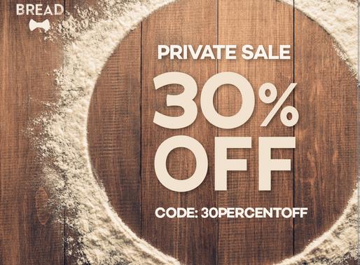 30% OFF.  It's a Secret Sale!