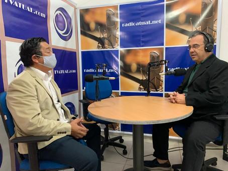 Dr. Ronaldo Onishi concede entrevista à radio Atual Net