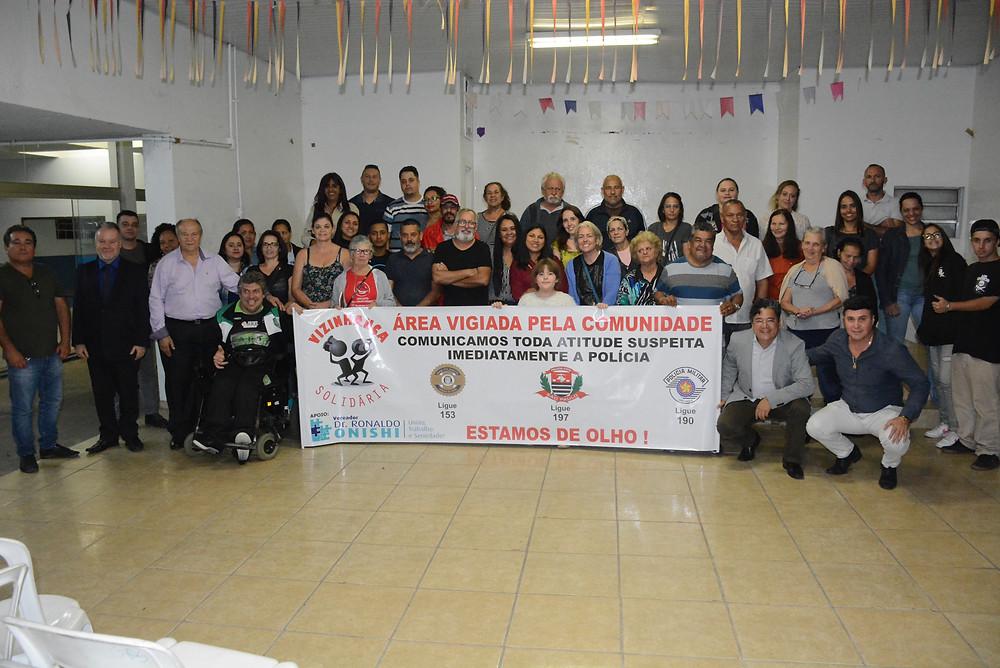 Reunião de segurança pública com a Vizinhança Solidária do Jardim Maria Rosa em 08/ago/2019