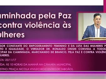 Caminhada da Paz Contra a Violência às Mulheres.