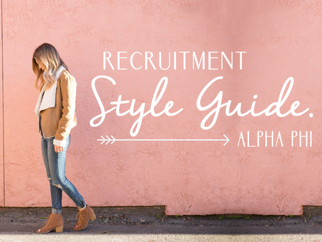 Recruitment Style Guide!