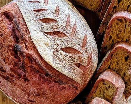 Beet Sourdough Bread (PURPLE BREAD)