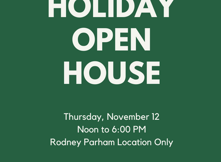 Join us for our Annual Holiday Open House