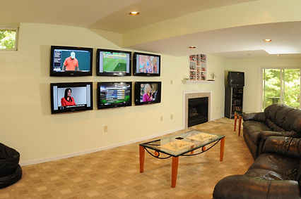 Multi TV ManCave with DirecTV