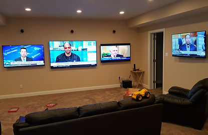 Multi TV Mancave With Surround Sound