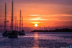 Sunset San Blas Panama
