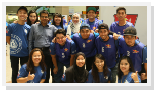 Mr. Siva with few of the Student Council members (Source: Hisyam Latif)