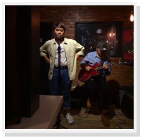 Muiz Zamri (Vocalist) and Redzaimin Ahmad (Guitarist) at Latte Café, Krema Coffee