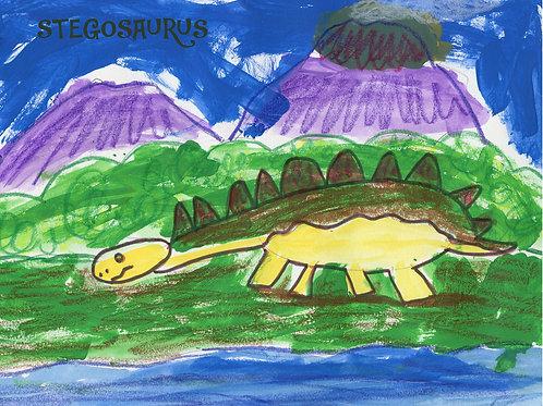Art Print (matted) - Stegosaurus