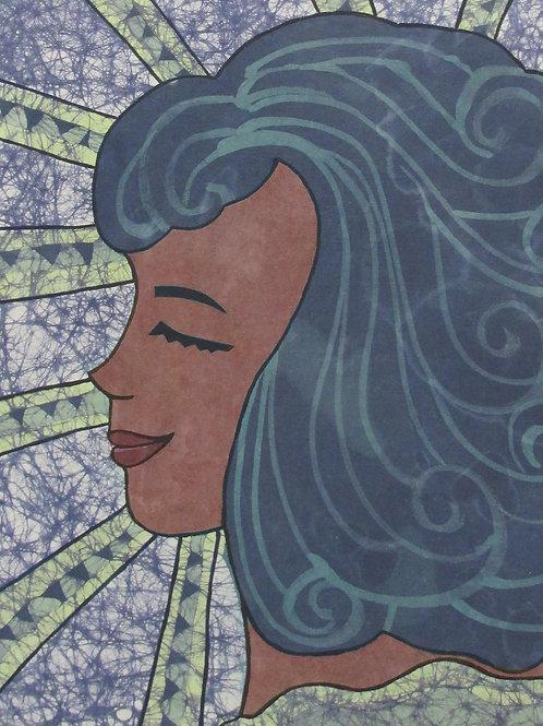 Art Print (matted) - Wave batik