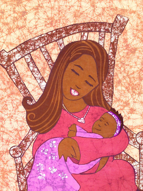 Art Print (matted) - Lullaby batik