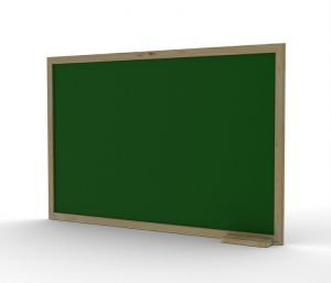 Green limestone board with wooden frame