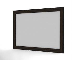 White slate with special wooden frame.