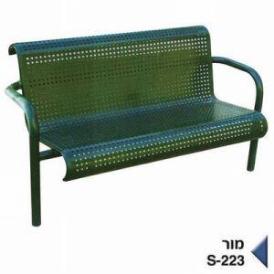 ספסל ישיבה מתכת - מור