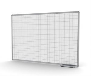 White whiteboard with squares embedded in the writing surface