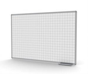 לוח מחיק לבן בעל משבצות המוטבעות במשטח הכתיבה