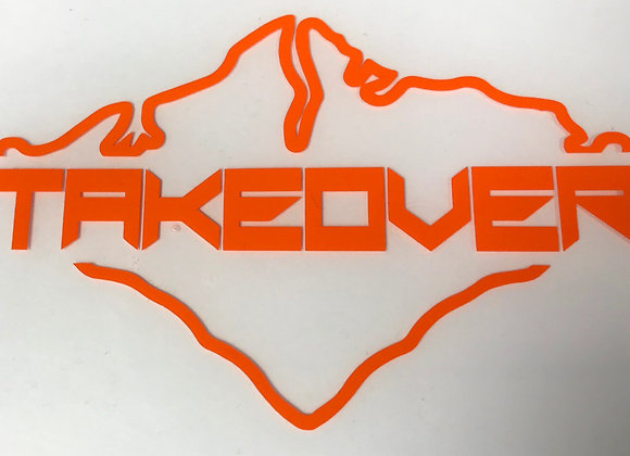 Orange Takeover Decal