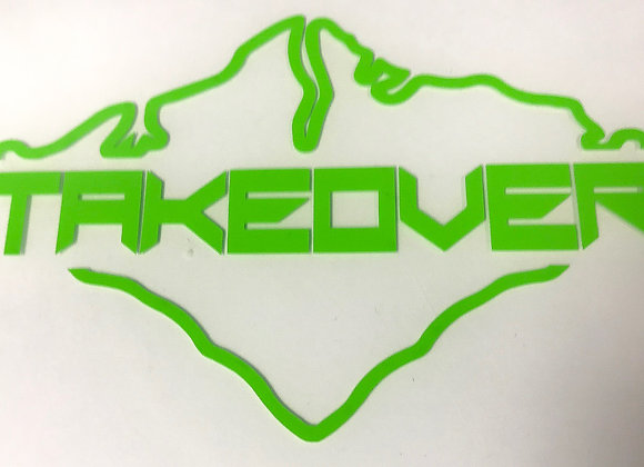 Green Takeover Decal