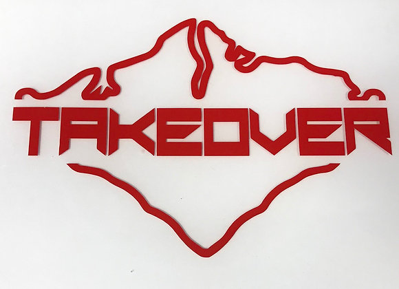 Red Takeover Decal