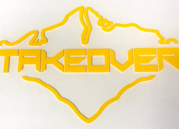 Yellow Takeover Decal