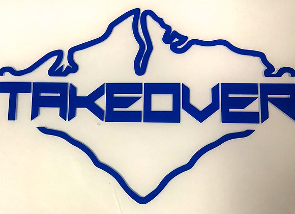 Blue Takeover Decal