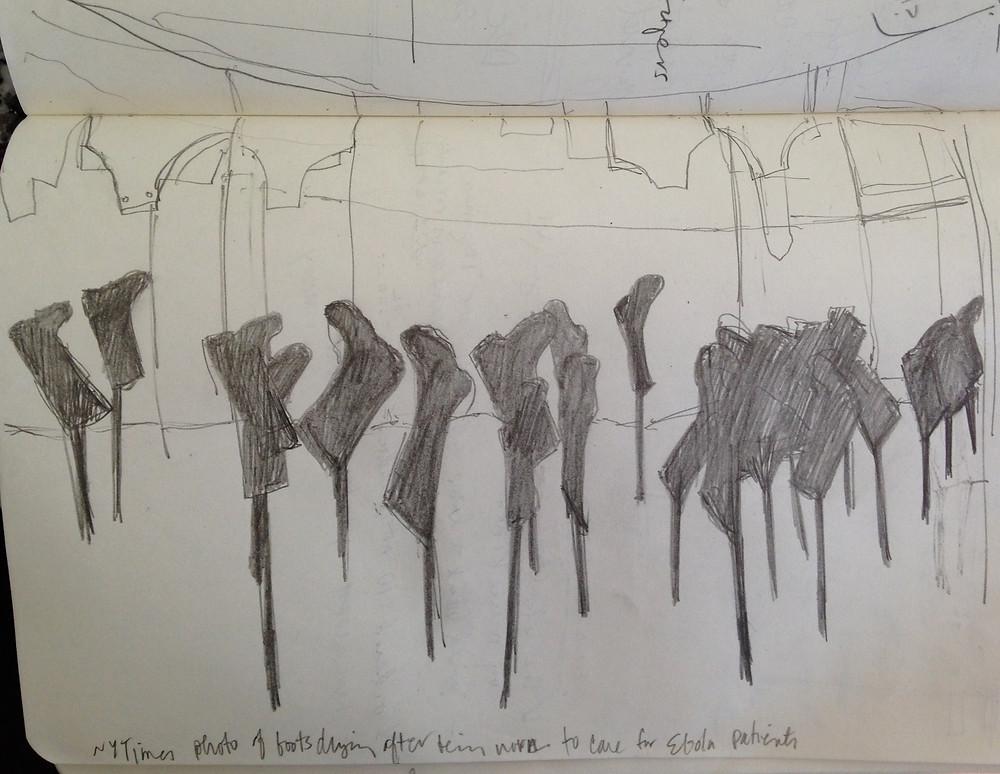 Ebola boots sketch