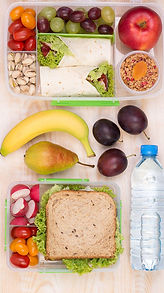 Healthy foods for a lunchbox
