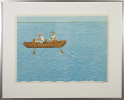 Aat Verhoog - Man en vrouw in een bootje