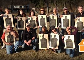 Safe and Secure Training gun range group event . Pistol training courses.