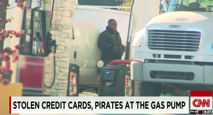 Keeping you Safe and Secure: Be aware of this criminal activity. Man stealing gas with stolen credit card