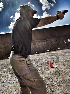 CT USCCA Training Counselor Dan Bulkley at the shooting range