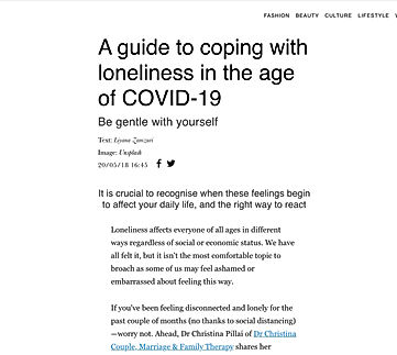 How to cope with loneliness?